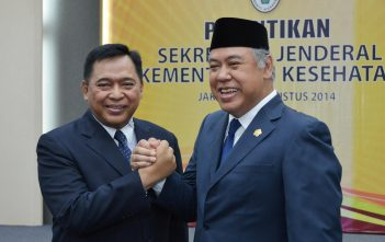 Pelantikan Sekretaris Jenderal Kemenkes RI, dr. Untung Susesno Sutarjo, M.Kes