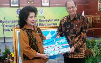 MoU antara Menkes dan Kepala Badan Informasi Geospasial