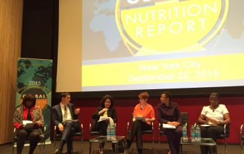 22-09-2015, New York, MK menjadi Panelis pada launching Global Nutrition Report 2015 di Hears Tower New York