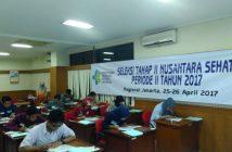 Peserta Seleksi Tahap II Nusantara Sehat sedang melaksanakan tes tertulis