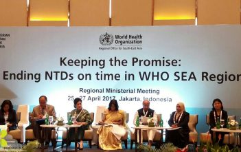 Regional Ministerial Meeting : Ending NTDs on time in WHO SEA Region, Jakarta