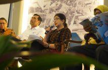 Menteri Kesehatan Nila Moeloek saat acara kumpul media Forum Merdeka Barat 9 di Galeri Nasional Indonesia
