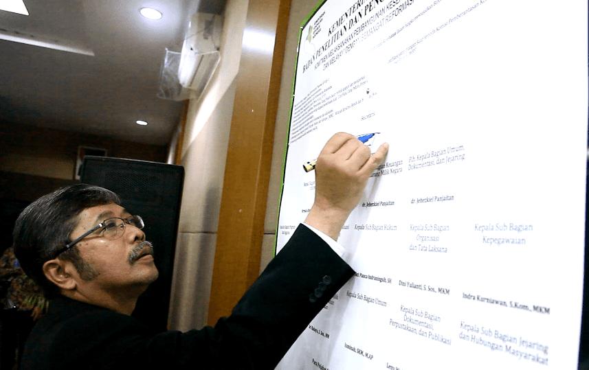 Wujudkan WBK, Badan Litbangkes Bangun Zona Integritas