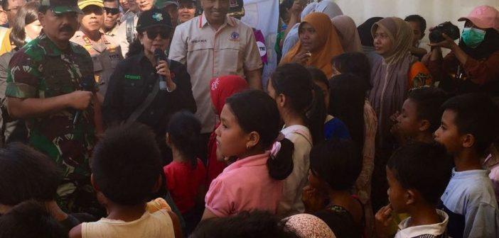 Menkes berdialog dengan anak-anak korban gempa Lombok