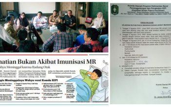 Kasus Meninggalnya Wahyu Tidak Terkait Imunisasi MR