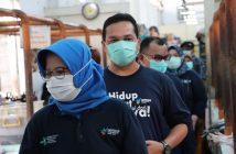 Kampanye Protokol Kesehatan di Pasar Gondangdia,Jakarta (28/11)
