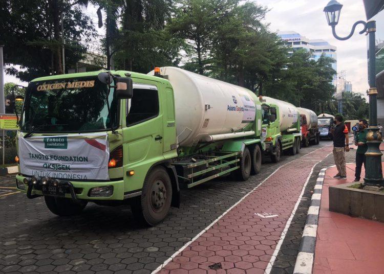 Batch Pertama dari 500 Ton Oksigen Medis Bantuan Tanoto Foundation Tiba di Jakarta